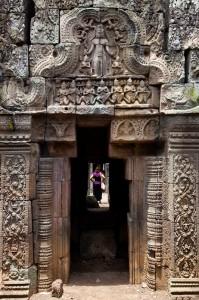 Porte au temple du Vat Nokor
