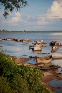 Ile de Koh Trong sur le Mékong