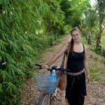 Quand nous roulions sur les chemins de Kompong Cham jusqu'à Kratie, à bicycletteueueueu !