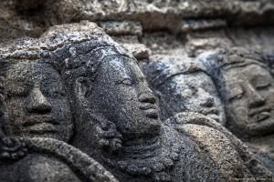 Bas-relief sur Borobodur