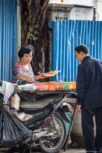 Moto-gargote de rue Jakarta, Java