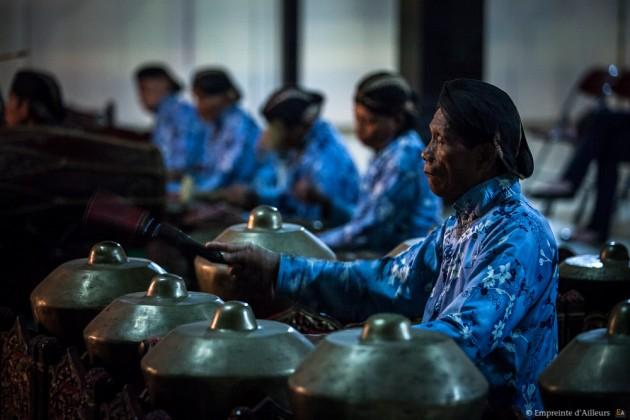 Musicien de l'orchestre du gamelan