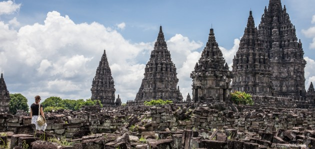 Contemplations, temples de Prambanan
