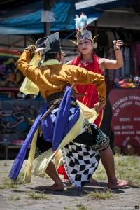 Danseurs de wayang topeng