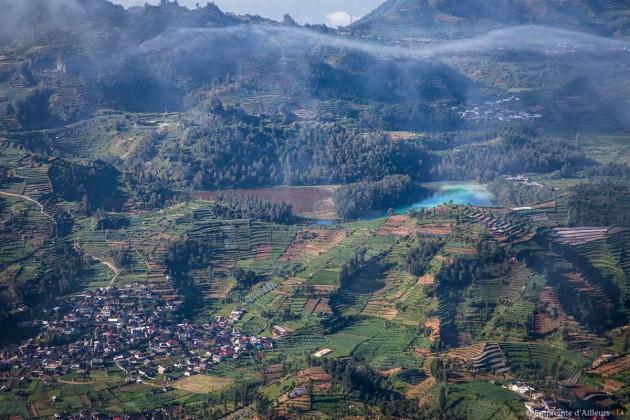 Gunung Prahu sur le plateau de Dieng