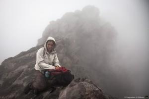 Sur le bord du cratère du Merapi