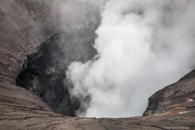 Dans le cratère du volcan