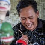 Portrait d'un portraitiste Wayang Golek